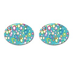 Circles Abstract Color Cufflinks (oval)