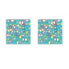 Circles Abstract Color Cufflinks (Square)