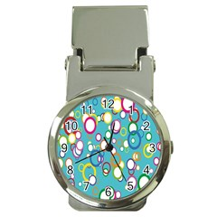 Circles Abstract Color Money Clip Watches