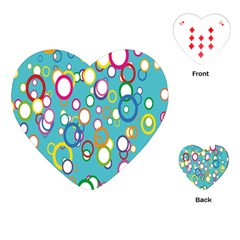 Circles Abstract Color Playing Cards (heart)