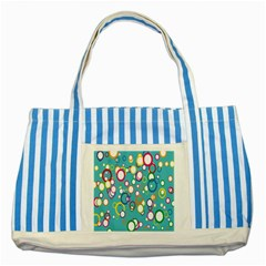 Circles Abstract Color Striped Blue Tote Bag