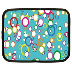 Circles Abstract Color Netbook Case (large)