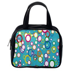 Circles Abstract Color Classic Handbags (one Side)
