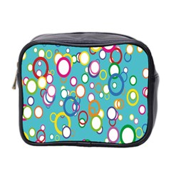Circles Abstract Color Mini Toiletries Bag 2 Side