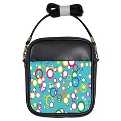 Circles Abstract Color Girls Sling Bags