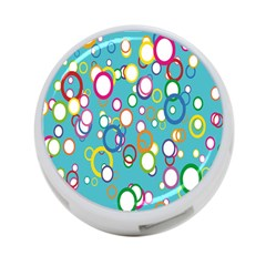 Circles Abstract Color 4 Port Usb Hub (one Side)