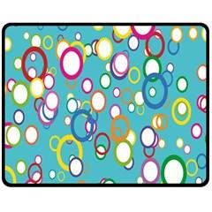 Circles Abstract Color Fleece Blanket (medium)