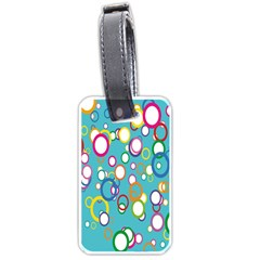 Circles Abstract Color Luggage Tags (One Side)