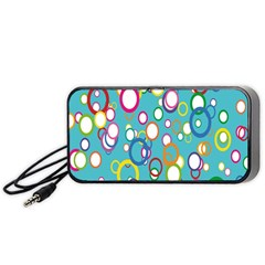 Circles Abstract Color Portable Speaker (Black)