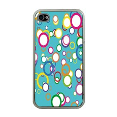 Circles Abstract Color Apple Iphone 4 Case (clear)