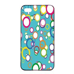 Circles Abstract Color Apple Iphone 4/4s Seamless Case (black)