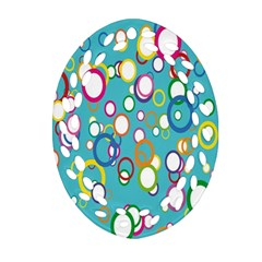 Circles Abstract Color Ornament (Oval Filigree)