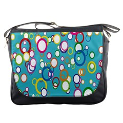 Circles Abstract Color Messenger Bags