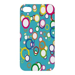 Circles Abstract Color Apple iPhone 4/4S Premium Hardshell Case