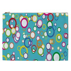 Circles Abstract Color Cosmetic Bag (XXL)