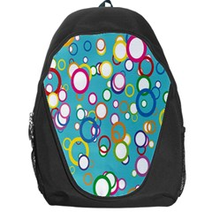 Circles Abstract Color Backpack Bag