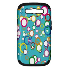 Circles Abstract Color Samsung Galaxy S Iii Hardshell Case (pc+silicone)