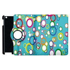 Circles Abstract Color Apple Ipad 3/4 Flip 360 Case