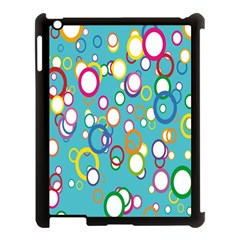 Circles Abstract Color Apple iPad 3/4 Case (Black)