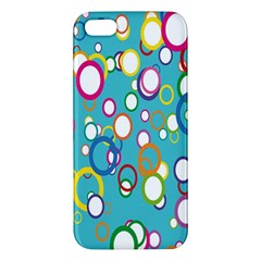 Circles Abstract Color Apple iPhone 5 Premium Hardshell Case
