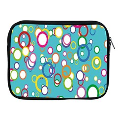 Circles Abstract Color Apple iPad 2/3/4 Zipper Cases
