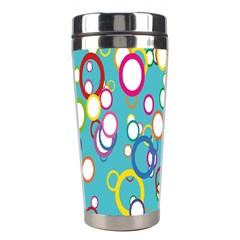 Circles Abstract Color Stainless Steel Travel Tumblers
