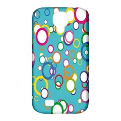 Circles Abstract Color Samsung Galaxy S4 Classic Hardshell Case (PC+Silicone)