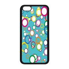 Circles Abstract Color Apple Iphone 5c Seamless Case (black)
