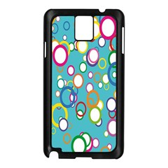 Circles Abstract Color Samsung Galaxy Note 3 N9005 Case (black)