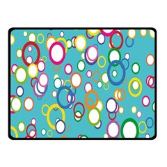 Circles Abstract Color Double Sided Fleece Blanket (Small)