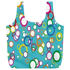 Circles Abstract Color Full Print Recycle Bags (L)