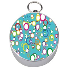 Circles Abstract Color Silver Compasses