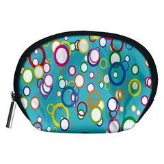 Circles Abstract Color Accessory Pouches (Medium)