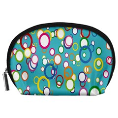 Circles Abstract Color Accessory Pouches (Large)