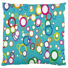 Circles Abstract Color Large Flano Cushion Case (one Side)