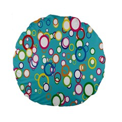Circles Abstract Color Standard 15  Premium Flano Round Cushions