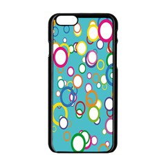 Circles Abstract Color Apple iPhone 6/6S Black Enamel Case