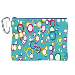 Circles Abstract Color Canvas Cosmetic Bag (XL)