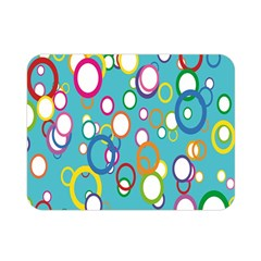 Circles Abstract Color Double Sided Flano Blanket (mini)