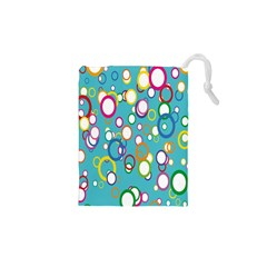 Circles Abstract Color Drawstring Pouches (xs)