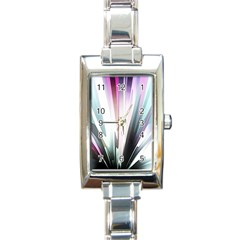 Flower Petals Abstract Background Wallpaper Rectangle Italian Charm Watch