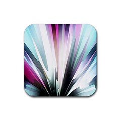 Flower Petals Abstract Background Wallpaper Rubber Square Coaster (4 pack)