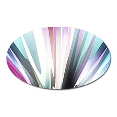Flower Petals Abstract Background Wallpaper Oval Magnet