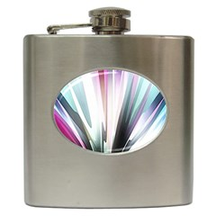 Flower Petals Abstract Background Wallpaper Hip Flask (6 oz)