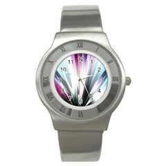Flower Petals Abstract Background Wallpaper Stainless Steel Watch