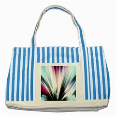 Flower Petals Abstract Background Wallpaper Striped Blue Tote Bag