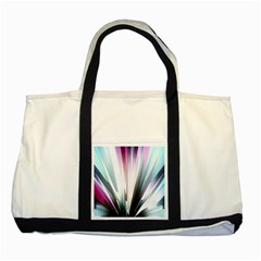 Flower Petals Abstract Background Wallpaper Two Tone Tote Bag