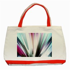 Flower Petals Abstract Background Wallpaper Classic Tote Bag (red)