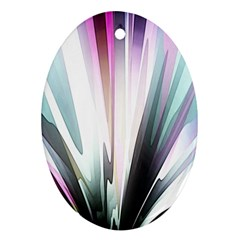 Flower Petals Abstract Background Wallpaper Oval Ornament (two Sides)