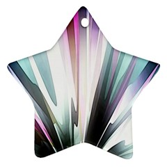 Flower Petals Abstract Background Wallpaper Star Ornament (two Sides)
